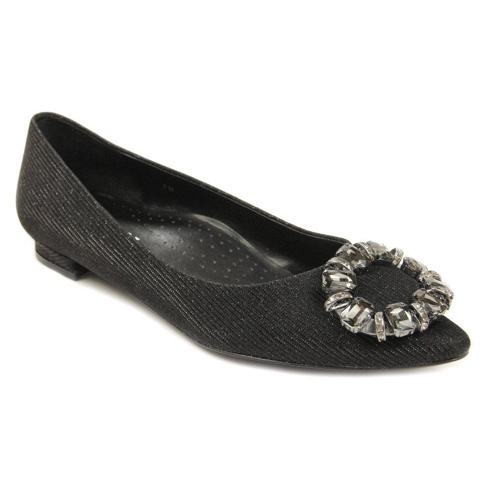 VANELi Women's Stevie Flats Shoes B01A7WU1YU 8 W (C)|Black Galassia/black/clear Stones