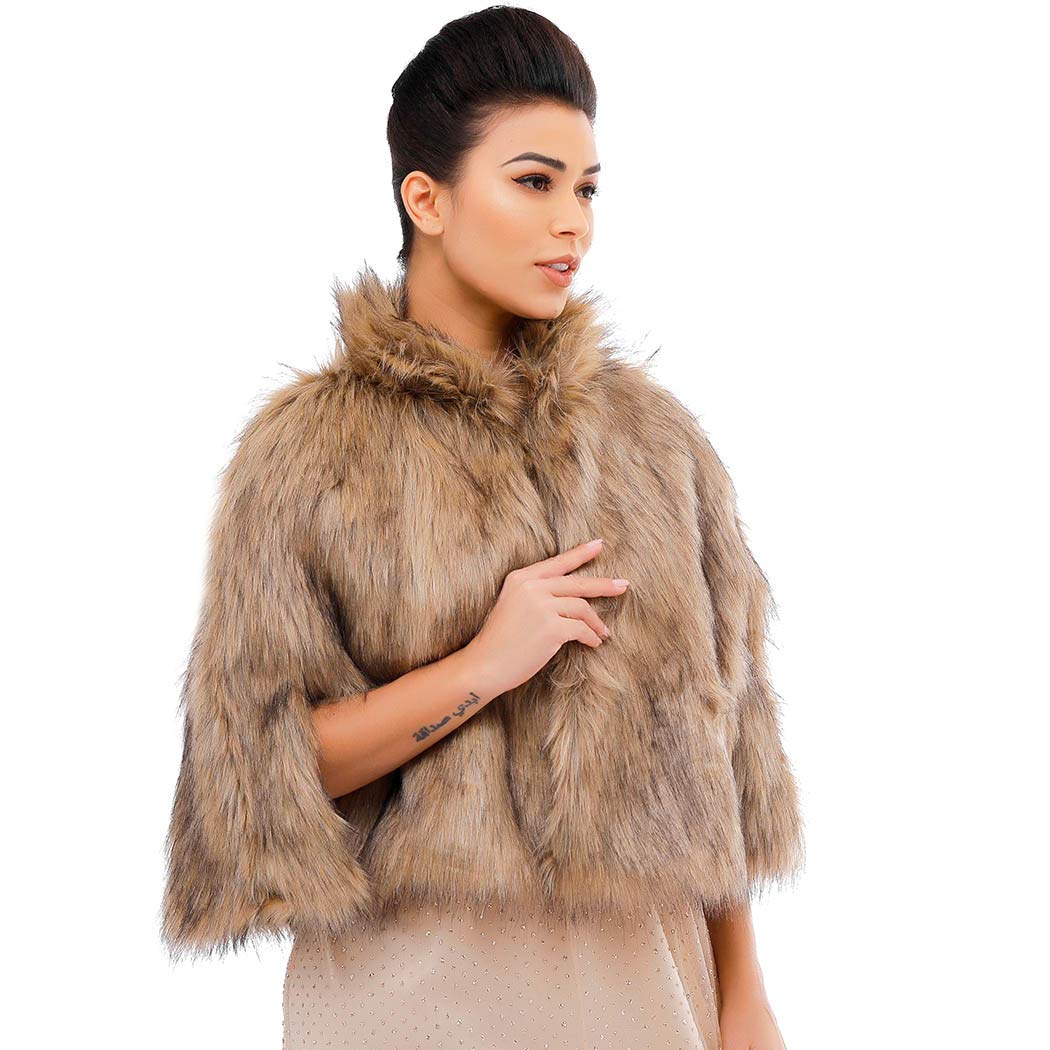 Victray Sleeveless Faux Fur...