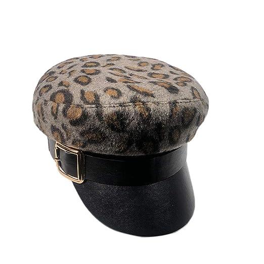 e0e3f277d47e0 Fiddler Winter Wool Driver Hat Retro Beret Flat Cap for Women ...