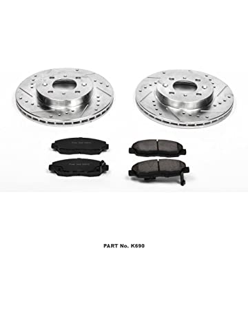 Power Stop K690 Front Z23 Evolution Brake Kit with Drilled/Slotted Rotors and Ceramic Brake