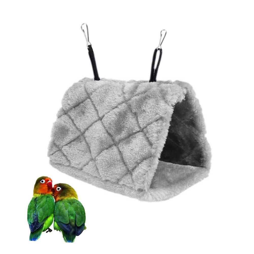 Bello Luna Loro gris nido de pájaro mascota nido de invierno cálido hamaca colgante cueva jaula de felpa Happy Hut tienda de cama (S): Amazon.es: Productos ...