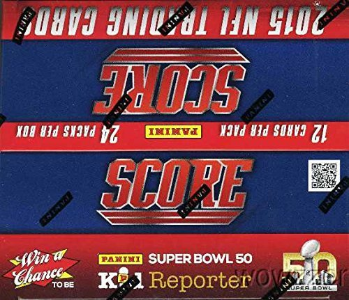 Score Football Card - 2015 Score NFL Football MASSIVE 24 Pack Factory Sealed Box with 288 Cards! Includes AUTOGRAPH or GAME USED MEMORABILIA CARD !