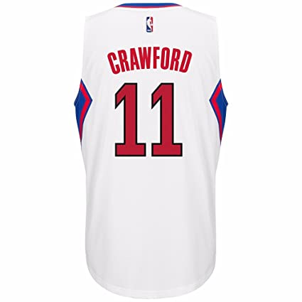 36b517500b3 adidas Jamal Crawford Los Angeles Clippers NBA White Official Climacool  Home Swingman Jersey for Men (