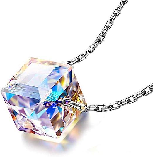 Elegant Necklaces Pendants Women Jewelry Box Crystal Necklace Sweater