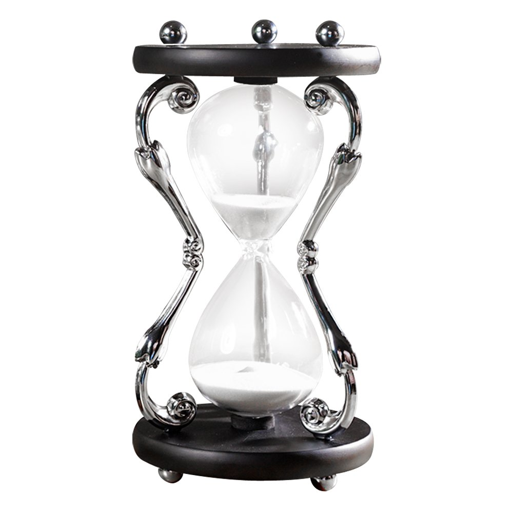 Amazon.com: Vintage Hourglass Sand Timer 30 Minutes Silver: Kitchen & Dining