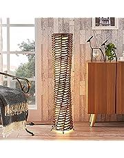 Lindby Golvlampa 'Joas' (modern) i Brun av lunopal/lunolit för vardagsrum matsal (2 lamor, E27) - Golvlampa, vardagsrumslampa
