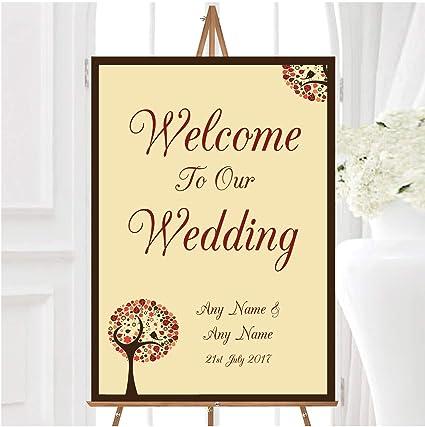 Shabby Chic - Cartel de bienvenida para boda, diseño de ...
