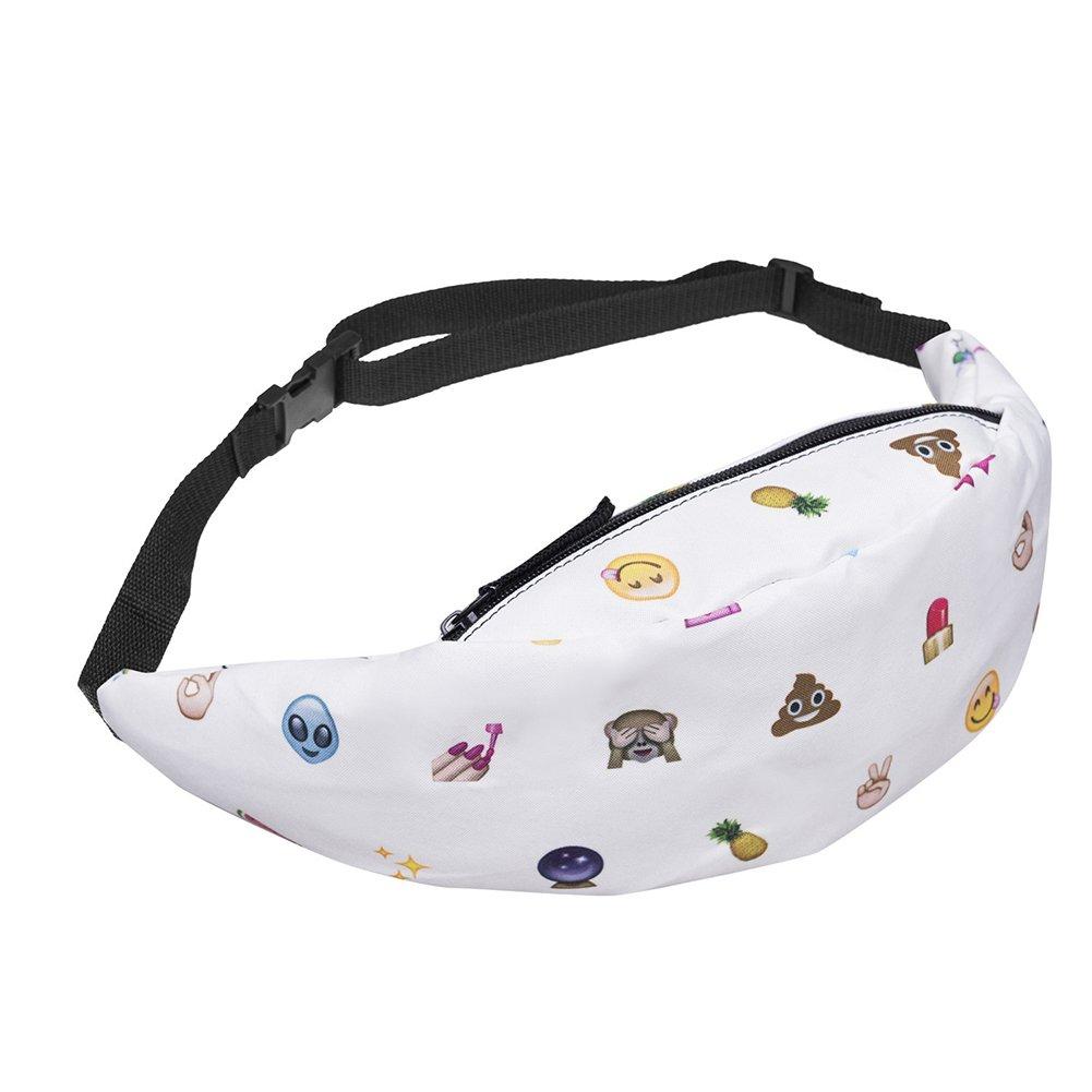 Kukoo Unicorn Waist Bag for Girls Emoji Fanny Pack Fashion Outdoor Belt Bag(Multiple Styles Available)