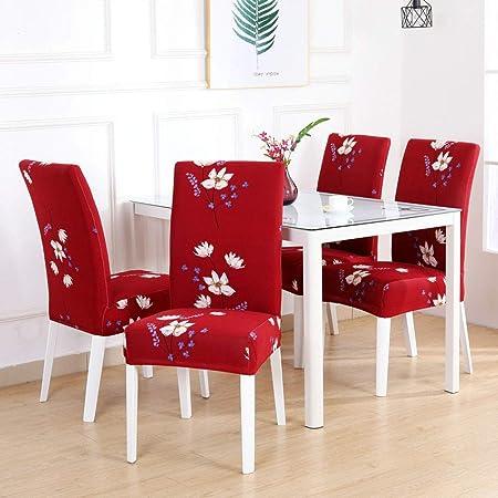 Fundas para sillas Pack de 4,fundas para sillas de comedor ...