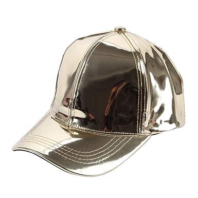 Gorras de béisbol de Oro Brillante para Hombre de Las Mujeres ...