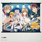 Home Decor Anime Food Wars! Shokugeki no Soma Wall Scroll Poster Fabric Painting 23.6*17.7 inch b2 034