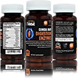 CLINICAL DAILY Digestion Enzymes. 18 all natural plant based enzymes support digestion of Gluten, Complex Protein, Lactose, support weight loss & energy. Aspergillopepsin, Lipase, Amylase, 60 Veg caps