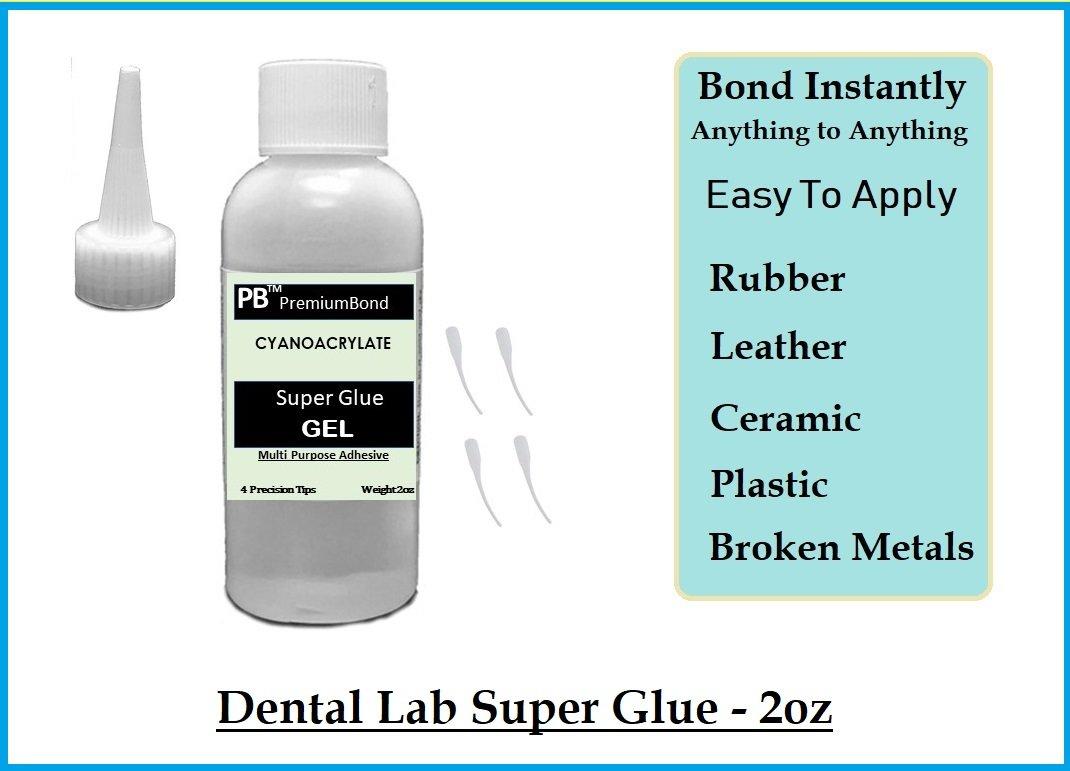Dental Lab Super Glue Adhesive Instant Bonding - GEL 2oz