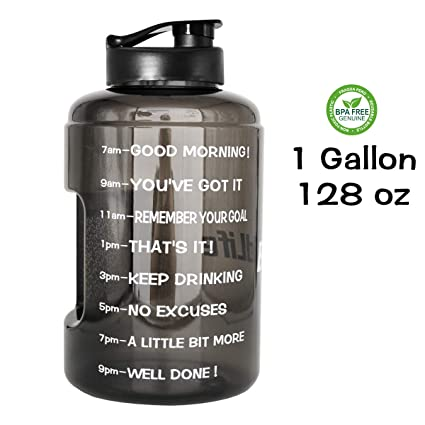 d71dda96a9 QuiFit 1 Gallon/128oz Water Bottle Reusable Leak-Proof Drinking Water Jug  for Outdoor