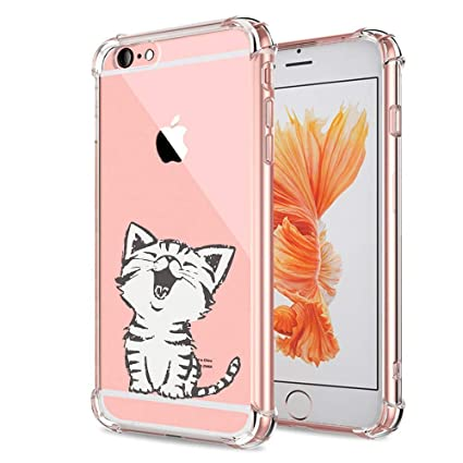 Amazon.com: Carcasa para iPhone 6S, diseño de gato, ultra ...