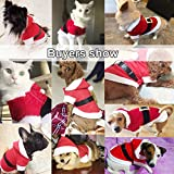 New Santa Dog Costume Christmas Pet Clothes Winter Hoodie Coat Clothes for Dog Pet Clothing Chihuahua Yorkshire Poodle (M)