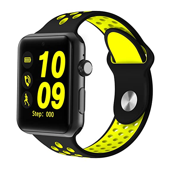 Amazon.com: ⌚ LEMFO LF07 Plus Smart Watch (Yellow and Black ...