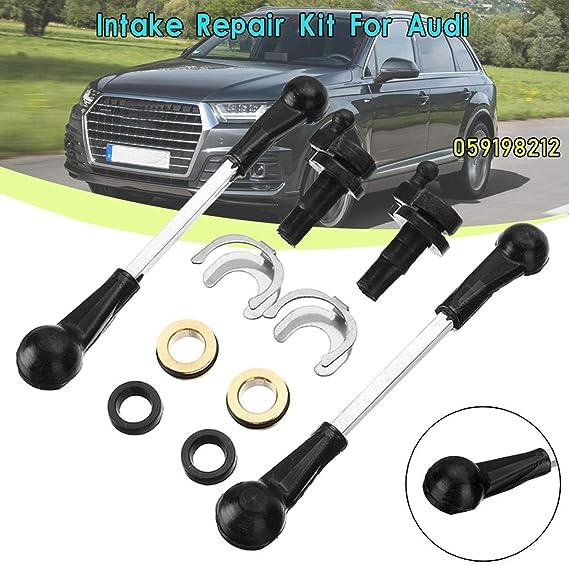 Keenso Intake Manifold Air Swirl Flap Repair Kit for AUDI VW 2.7 3.0 TDI A4 A6 A8 059129711 059129712