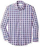 Amazon Essentials Men's Regular-Fit Long-Sleeve Plaid Shirt, blue/red plaid, Large
