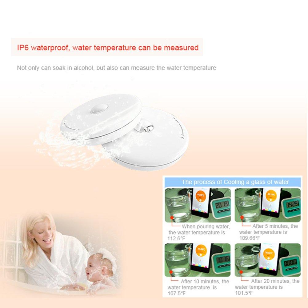 Victoria Smart Wireless Bluetooth Termómetro Temperatura Corporal Tracker de 24 horas Baby Termómetro Monitor Temperatura del bebé mediciones precisas.