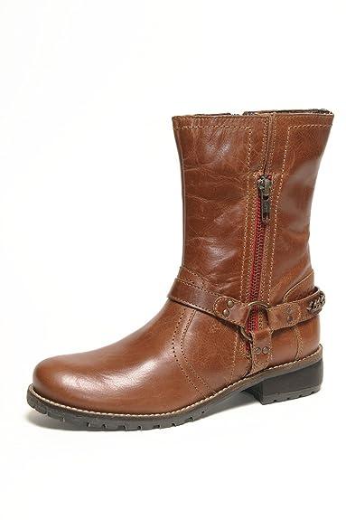 Gabor Mima Kids Schuhe Stiefel Leder 351 02 wasserabweisend cognac Buff  burnish waxy, Schuhe Kinder 0c510e0c11
