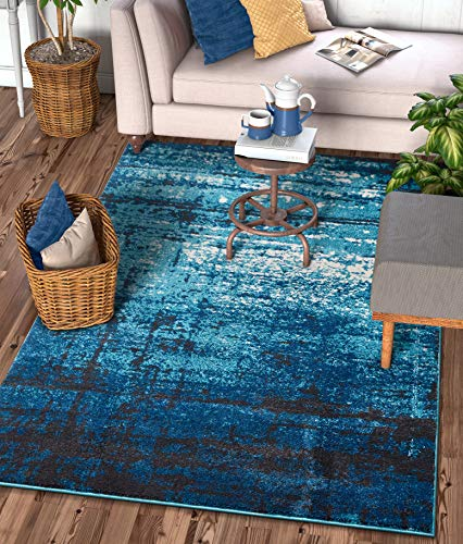 Well Woven 22044 Sydney Vintage Crosby Blue Modern Distressed Area Rug 3'3