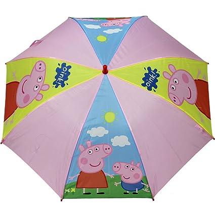 Paraguas George y Peppa Pig automatico 46cm