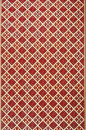Duracord Outdoor Rug (Mad Mats Scotch Indoor/Outdoor Floor Mat, 4 by 6-Feet, Cranberry)