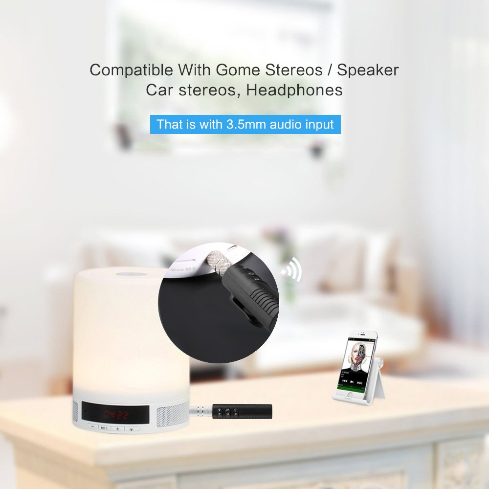 TiooDre Receptor Bluetooth Bluetooth Auto Kit Manos Libres de Audio del Adaptador inal/ámbrico del Receptor del Coche AUX Kit de Altavoces est/Ãreo de Auriculares de Coches