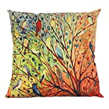 Throw Pillow Covers, E-Scenery Clearance Sale! Flower Tree Square Decorative Throw Pillow Cases Cushion Cover for Sofa Bedroom Car Home Decor, 16 x 16 Inch