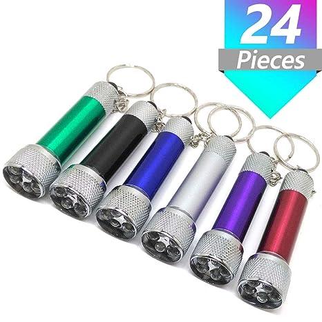 Onwon 24 piezas Mini linternas llavero 5 bombillas LED ...