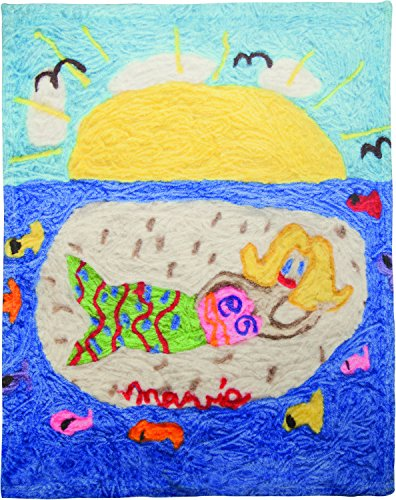 Tropical Fish Wall Plaque (Manual Miss Mavis Fun House Natalie the Mermaid Dye Print Plush Baby Nursery Bed Blanket 30x40