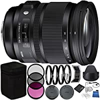 Sigma 24-105mm f/4 DG OS HSM Art Lens for Nikon F Bundle with Manufacturer Accessories & Accessory Kit (23 Items)