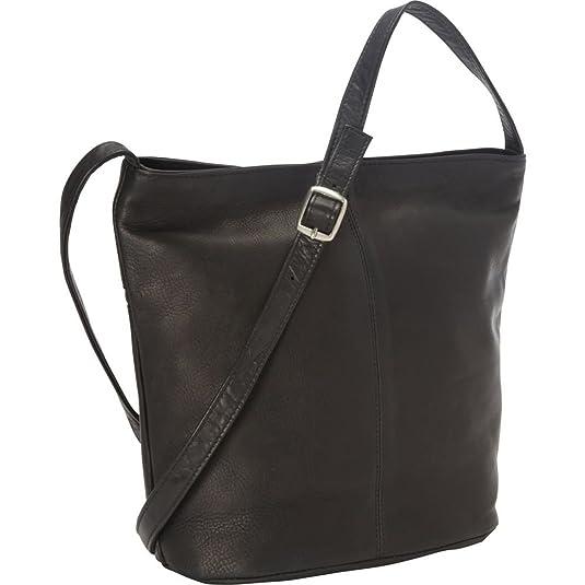 Royce Leather Vaquetta Shoulder Bag with Front Zipper (Black)  Handbags   Amazon.com 3e33a76c38936
