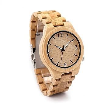 Herren Bambus Armbanduhr Japan Bewegung Quarz Armbanduhr Original