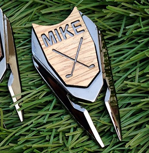 Groomsmen Golf (Personalized Wood Golf Ball Marker & Divot Tool - Gifts for Groomsmen, Best Man Gift, Father of the Bride Gift, Men's Gift, Father's Day Gift, Gift for Dad (Oak Wood))