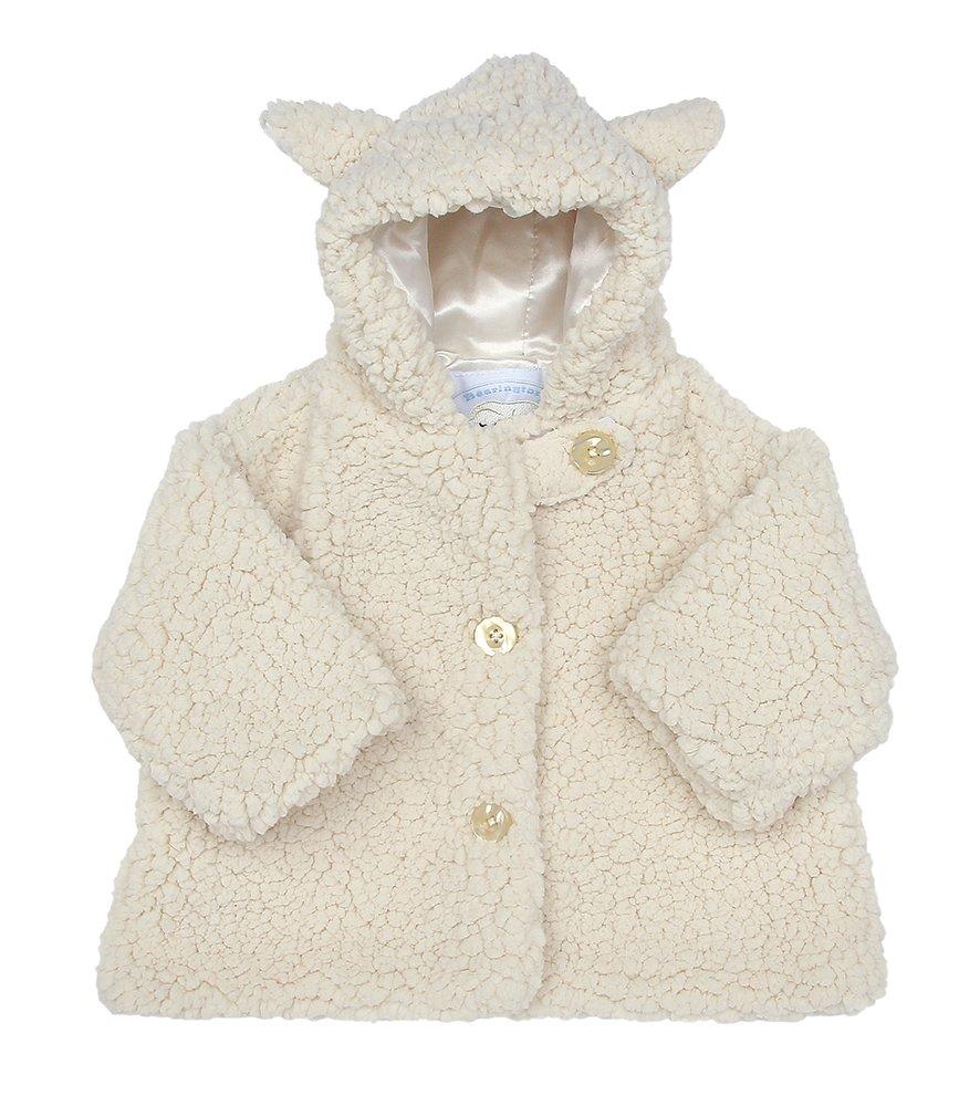 Bearington Baby Lamby White Lamb Hooded Coat (12-24 Months) Bearington Collection 197631
