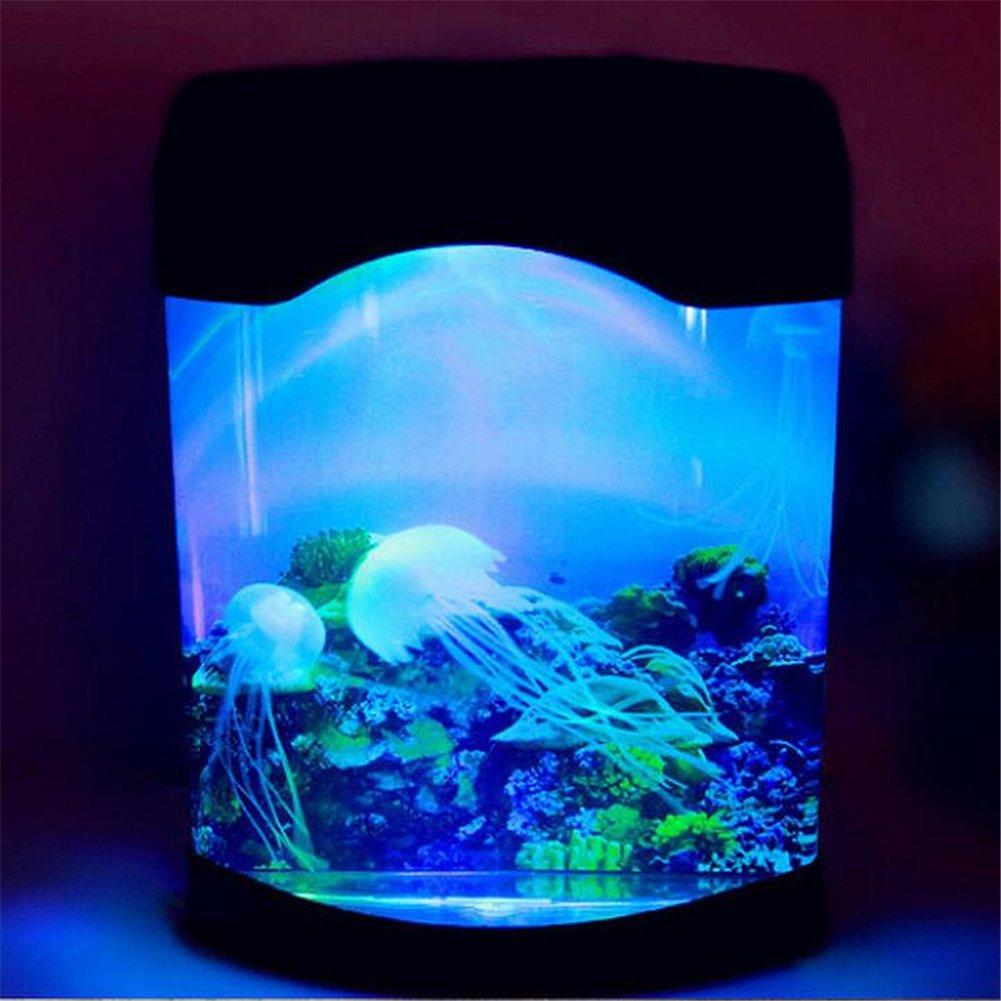 Amazon.com: Maelu Colorful LED Jellyfish Tank Sea World Swimming Mood Lamp  Desk Night Light Home Decorations For Living Room: Home U0026 Kitchen