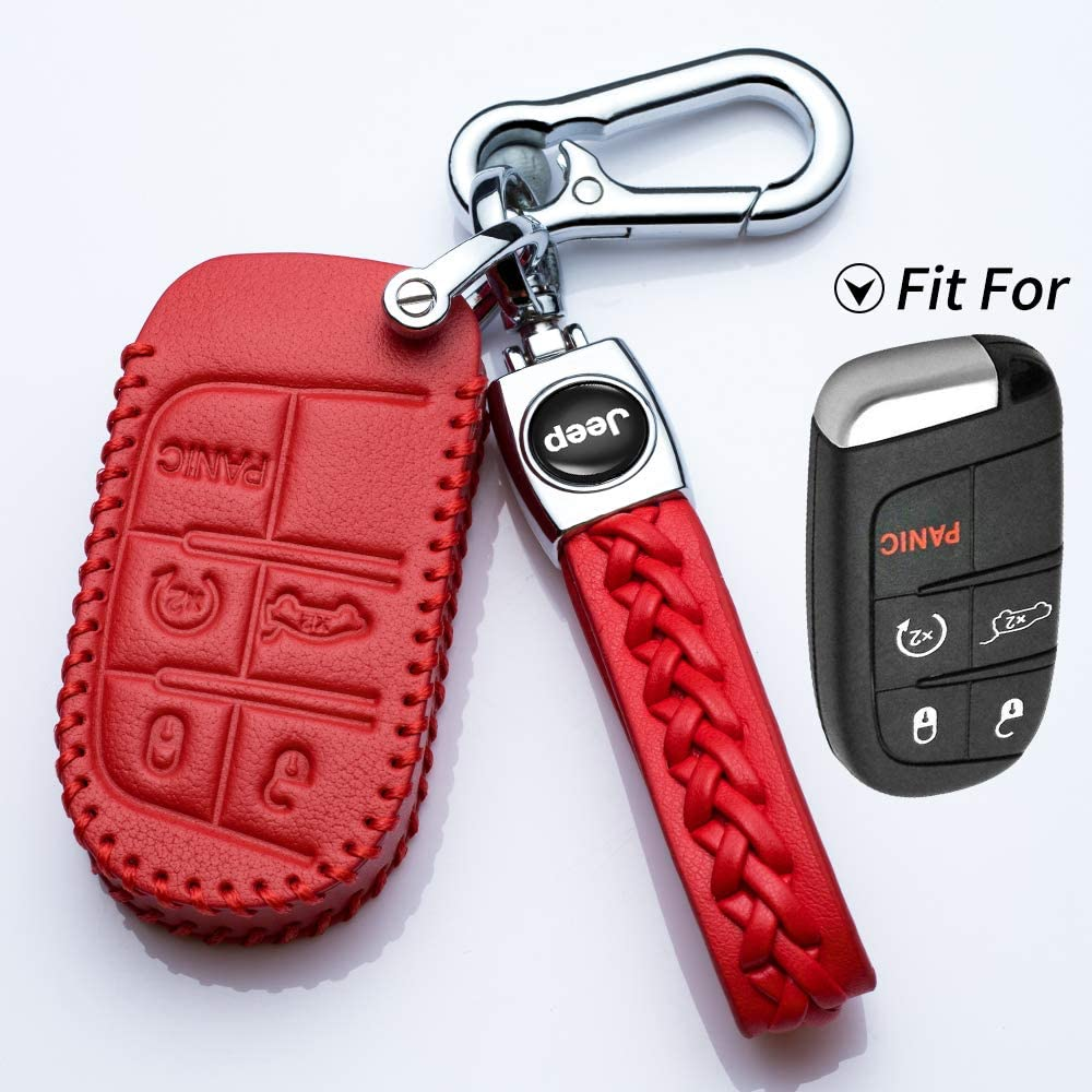 N//A Key Fob Cover Case for 2017 2018 2016 Suit for Jeep Grand Cherokee Wrangler Compass Cherokee Renegade Patriot Grand Comander 3 4 5 Buttons Protector Black.