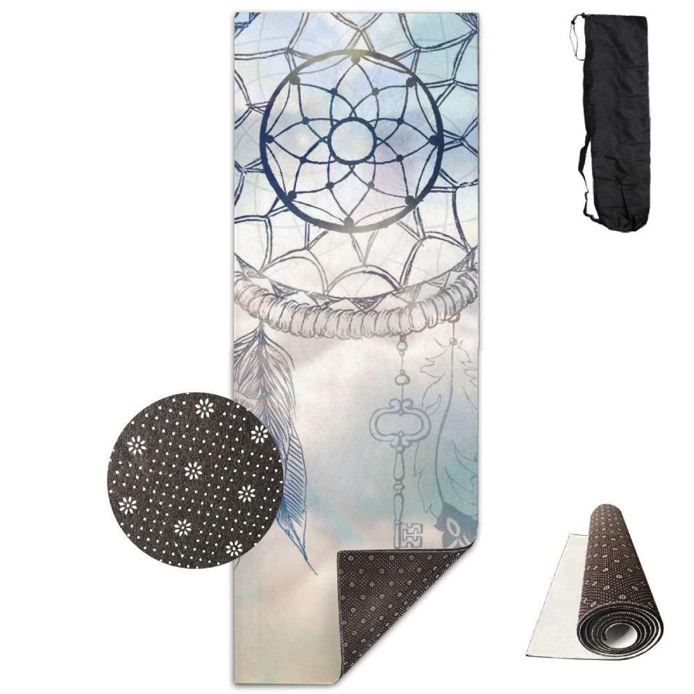 Cute Dream Catcher Yoga Mat Towel for Bikram Hot Yoga, Yoga and Pilates, Paddle Board Yoga, Sports, Exercise, Fitness Towel