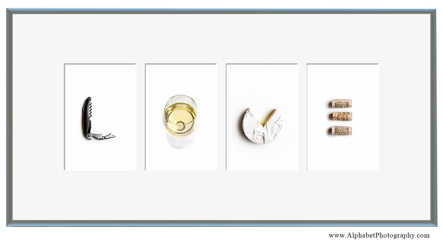 Alphabet Photography 'LOVE' Fine Art Food Line 10x21 Wine Art Kitchen Decor