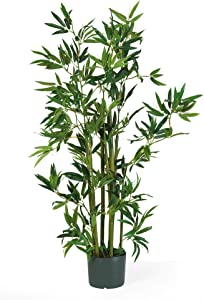 "Nearly Natural 5040 Bamboo Silk Plant, 4-Feet, Green,49.5"" x 9"" x 9"""