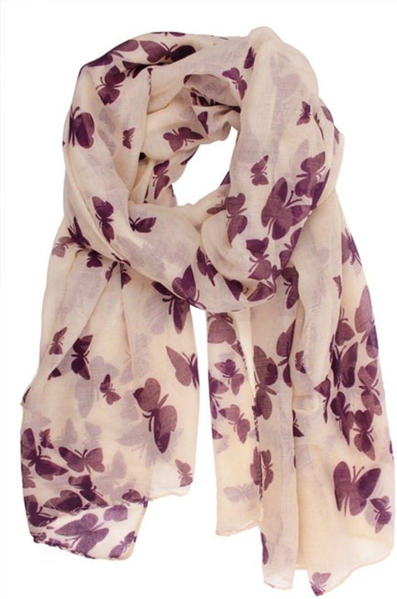 Ladies Womens Fashion Stylish Butterfly Print Scarf Shawl Neck Wrap UK SELLER