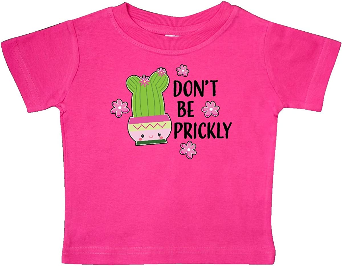inktastic Dont Be Prickly with Cute Cactus Baby T-Shirt