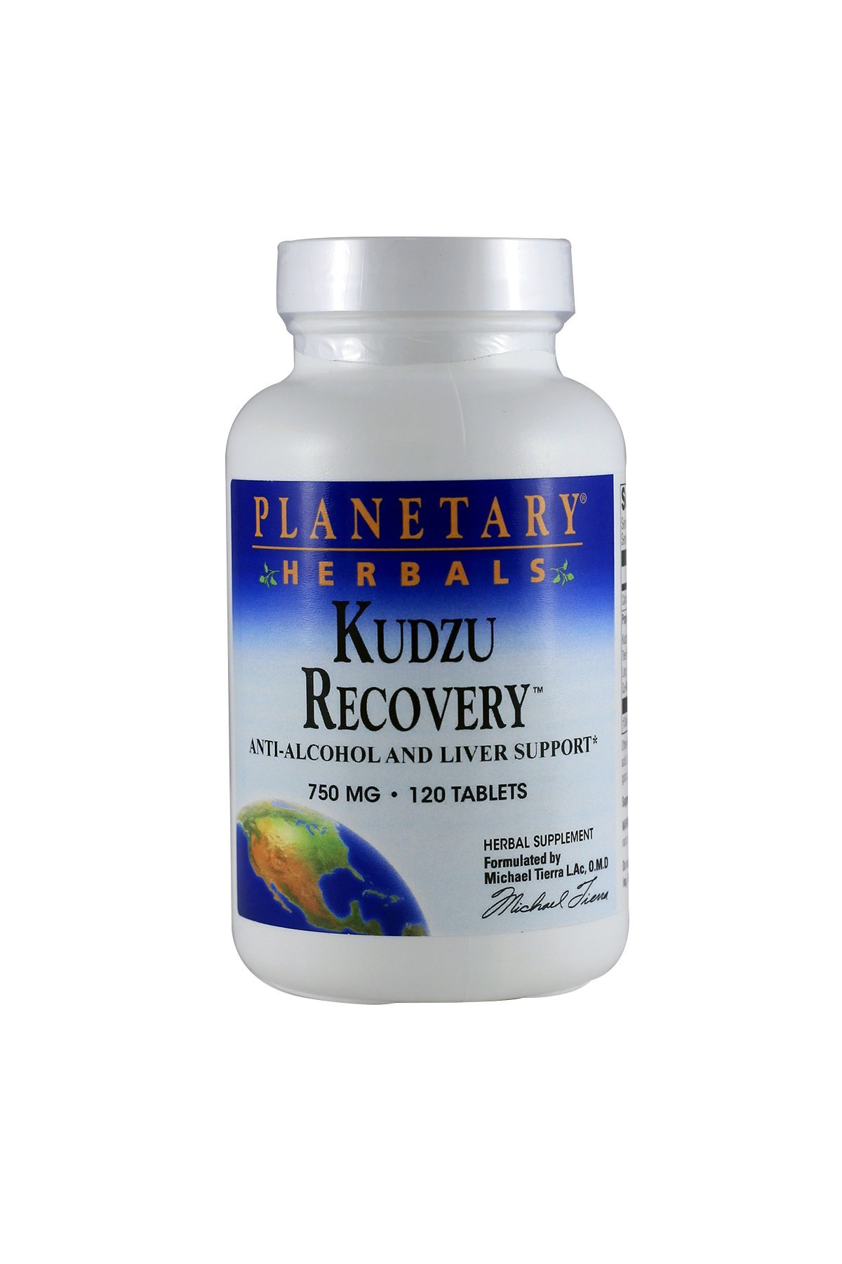 Planetary Herbals Kudzu Recovery 750mg, Anti-Alcohol and Liver Support 120 Tablets