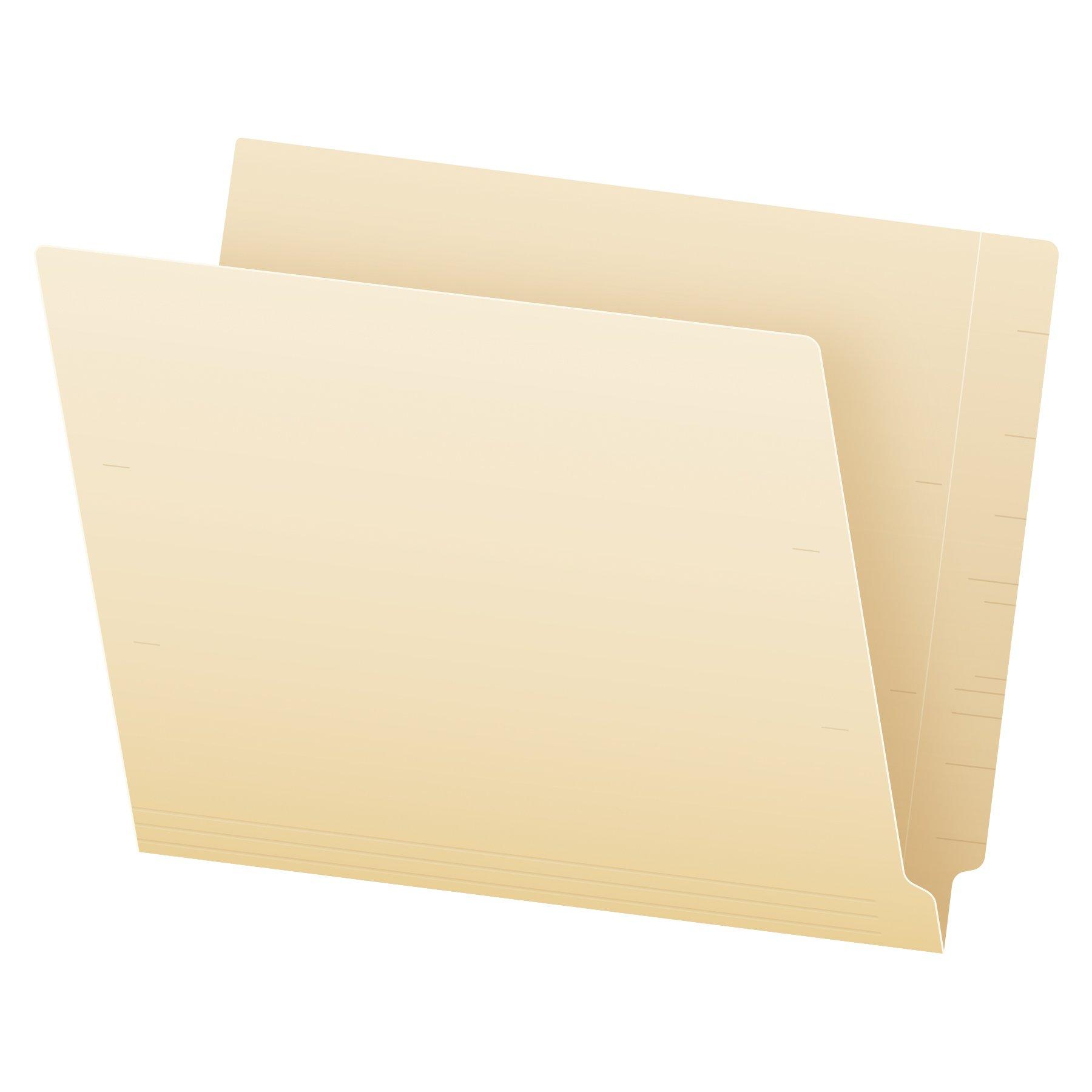 Pendaflex Manila End-Tab Fastener Folders, Letter Size, 2 Fasteners, Manila, Straight Cut, 50/BX (44120)