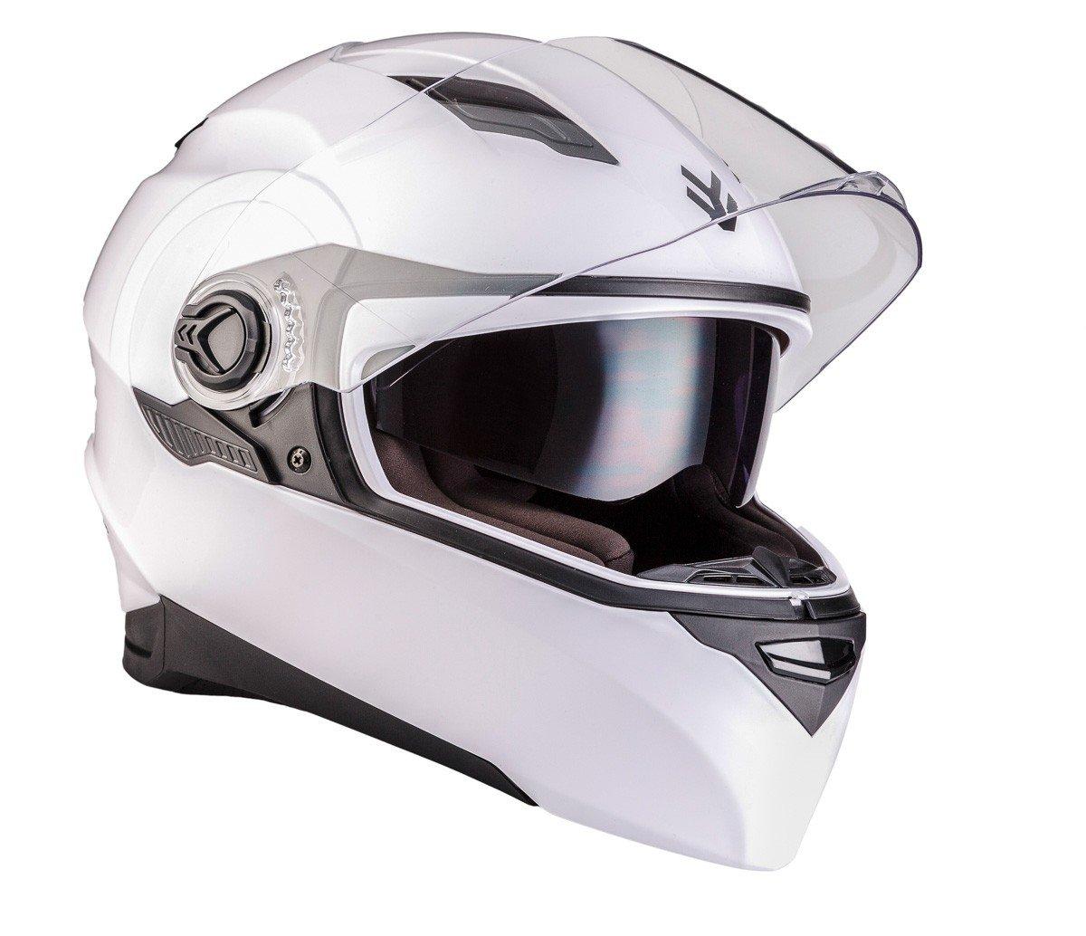 "Armor · AF-77 ""Carbon"" (gray) · Casco moto Integrale · Scooter Urban Cruiser FULL-FACE HELMET motocicleta · ECE certificado · Separate Visors · Click-n-Secure™ Clip · Bolsa de transporte &m"