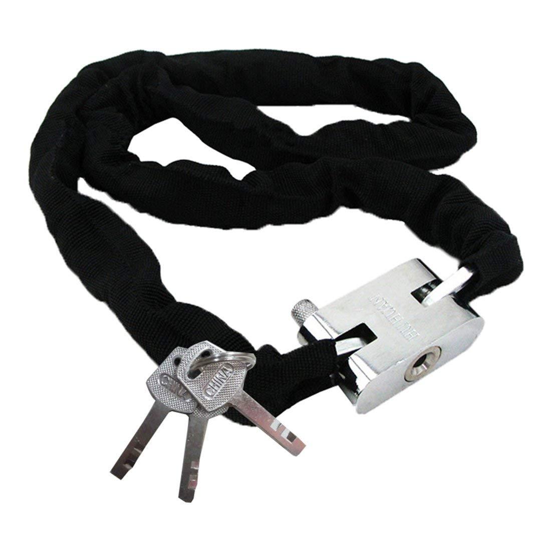 resistente SUNWAN Candado de cadena para bicicleta motocicleta ciclismo de carretera 1 m antirrobo monta/ña con 3 llaves para bicicleta