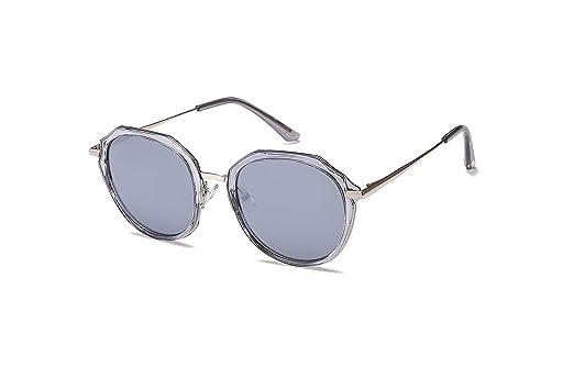 f4eff9547 Fashion Stylish Black Retro Reflective Sunglasses Eyewear Clear Frame For Girls  Womens Mens