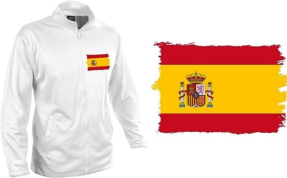MERCHANDMANIA Chaqueta Tecnica KLUSTEN 1 Dibujo Bandera ESPAÑA ...